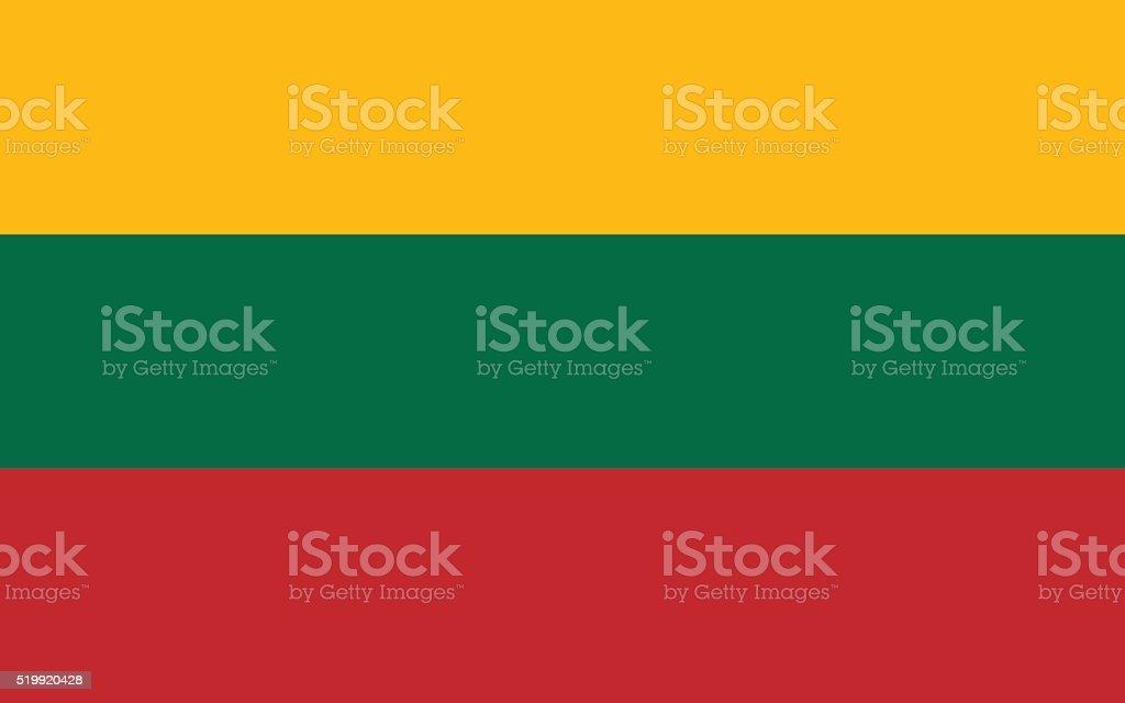 Lithuania Flag vector art illustration