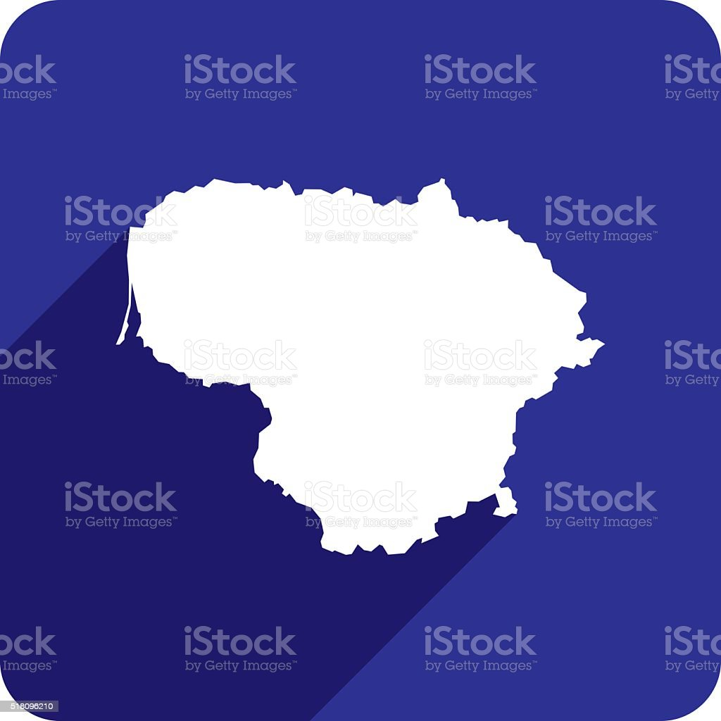 Lithuania Icon Silhouette vector art illustration