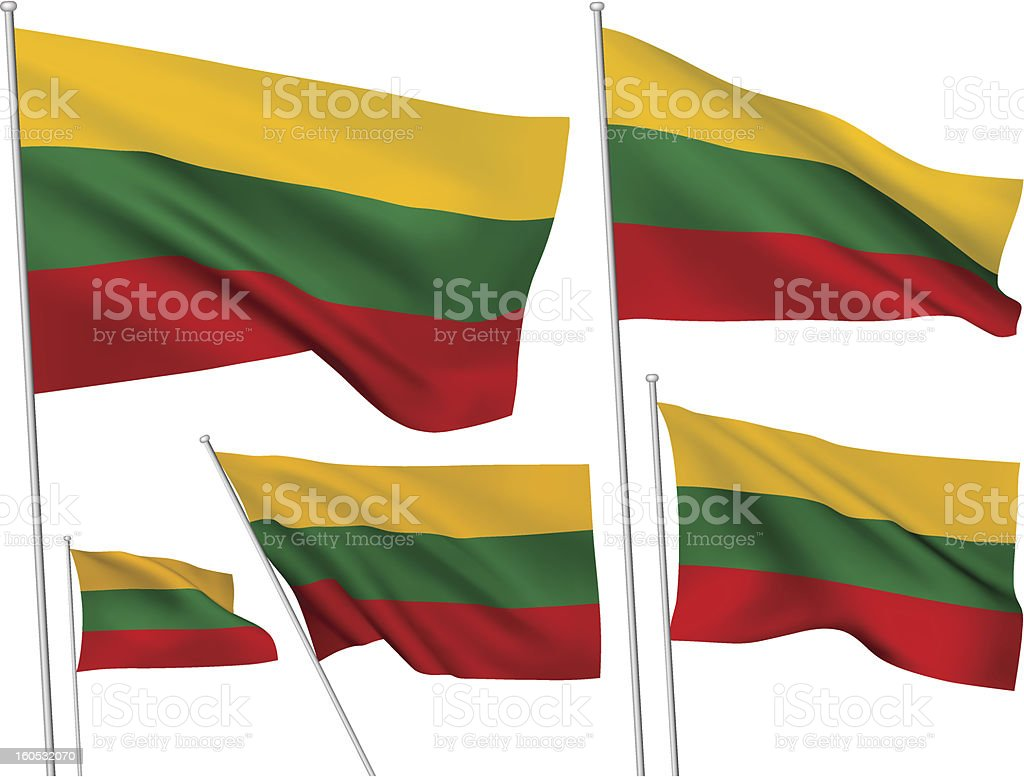 Lithuania vector flags royalty-free stock vector art