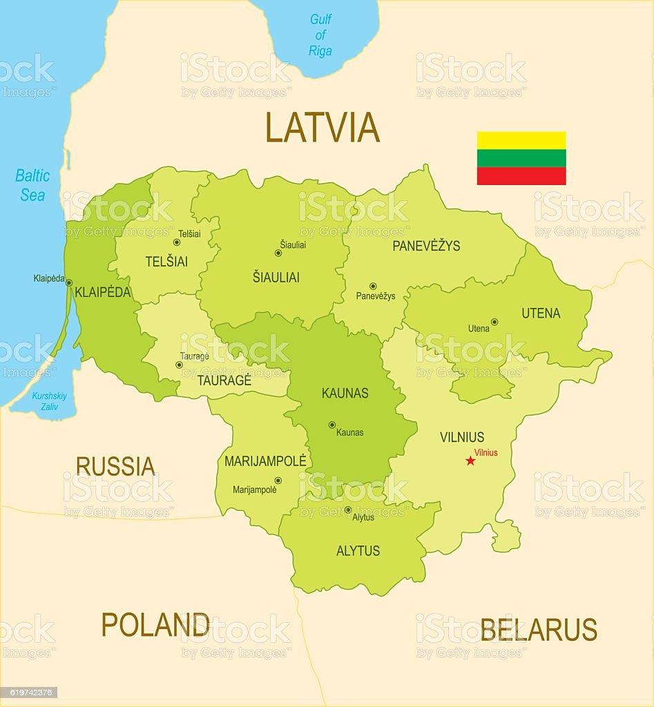 Lithuania vector art illustration