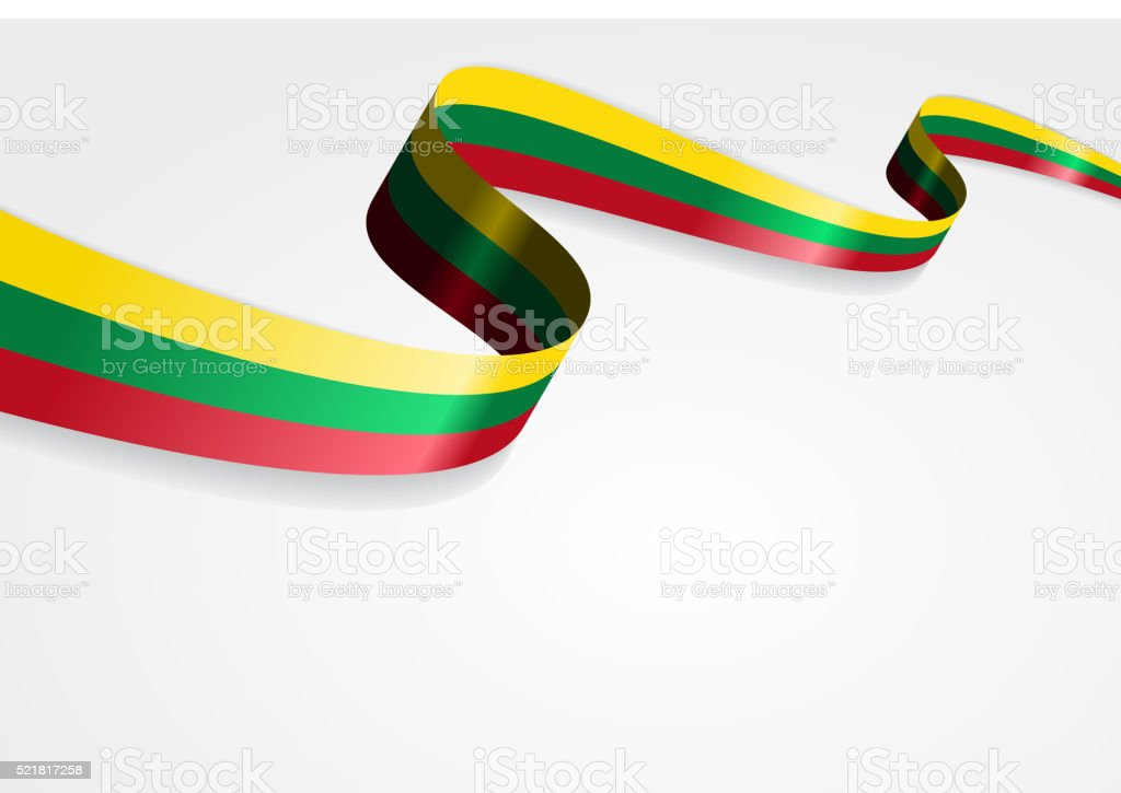 Lithuanian flag background. Vector illustration vector art illustration