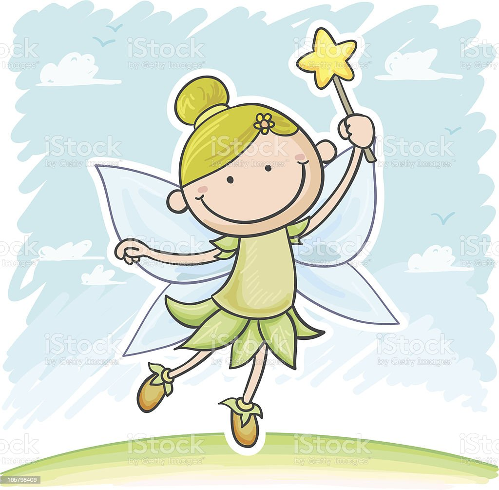 Little Angel celestial in cartoon style royalty-free stock vector art