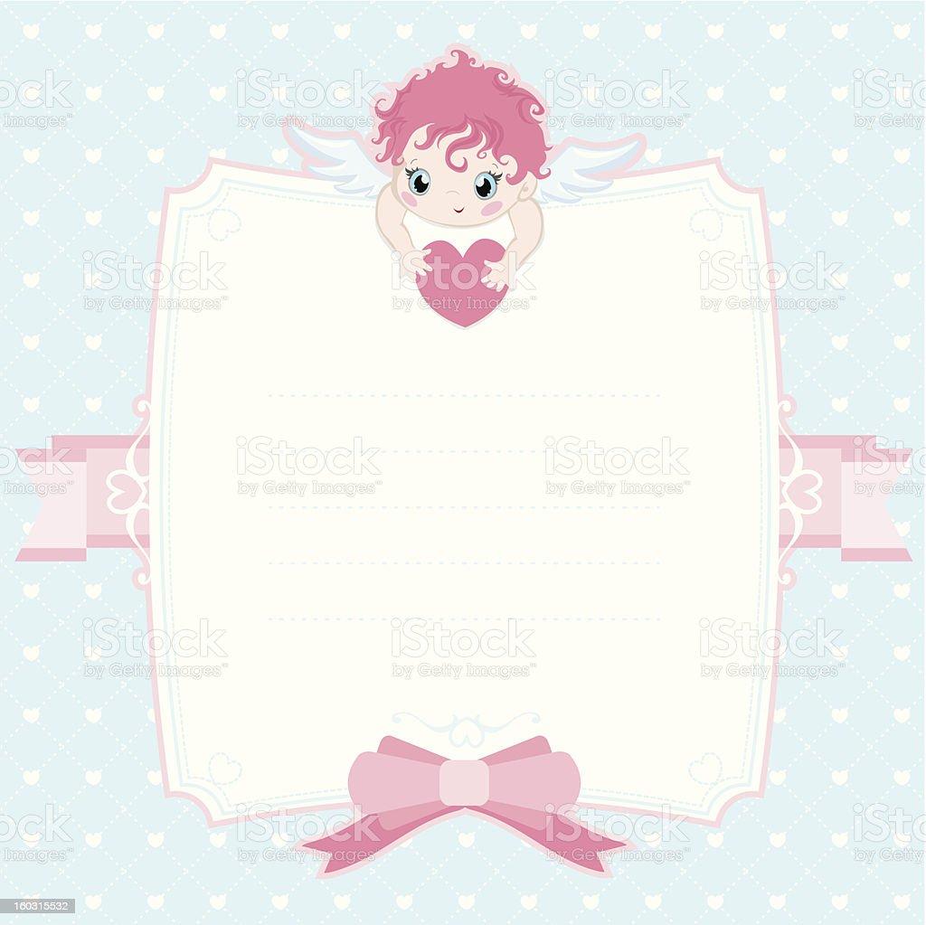 Little angel frame royalty-free stock vector art
