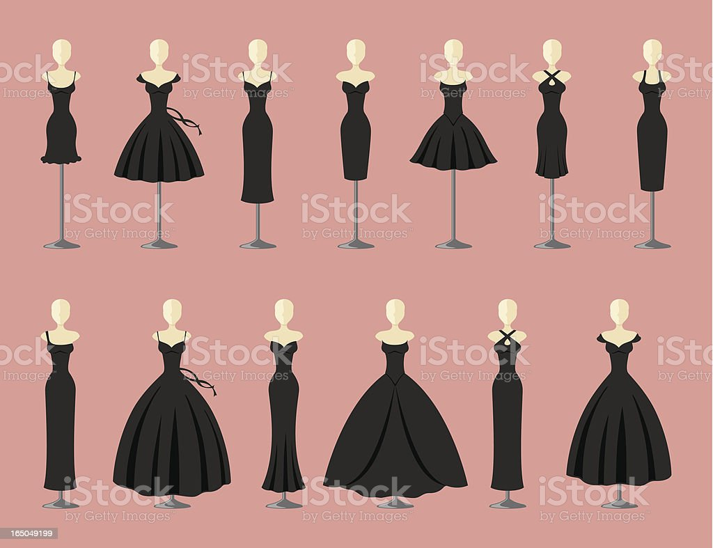 little black dress clip art vector images amp illustrations