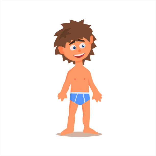 Young Naked Boy Clip Art, Vector Images & Illustrations ...