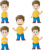 Little boy in various expression