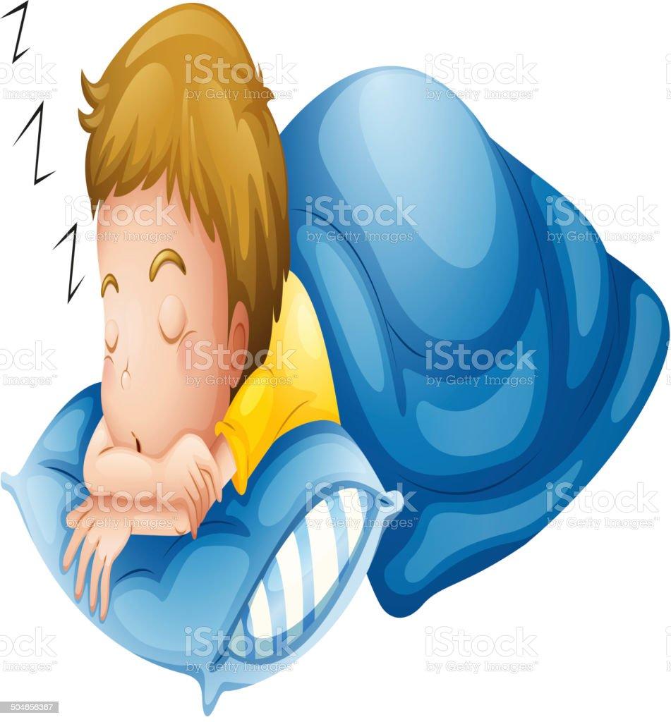 Little boy sleeping royalty-free stock vector art