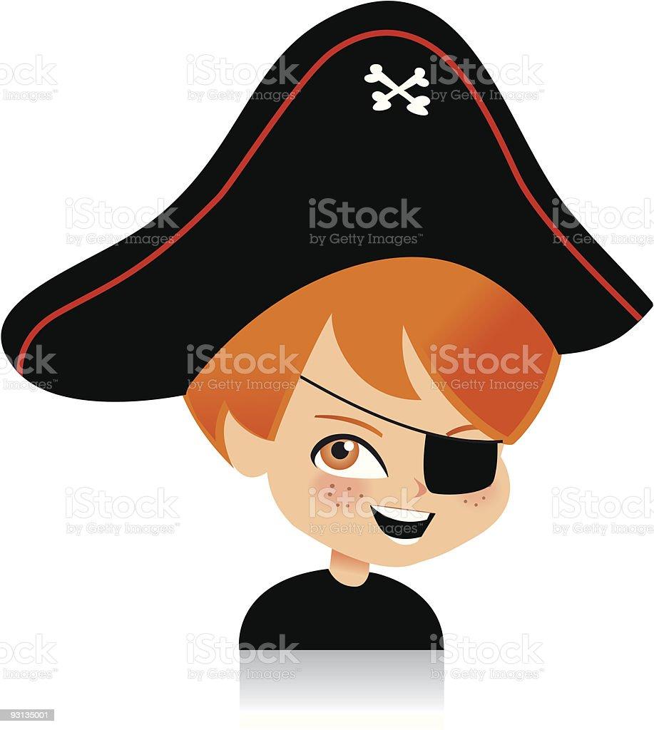 Vector Girl Pirate Hat Stock Vector 34848280 - Shutterstock