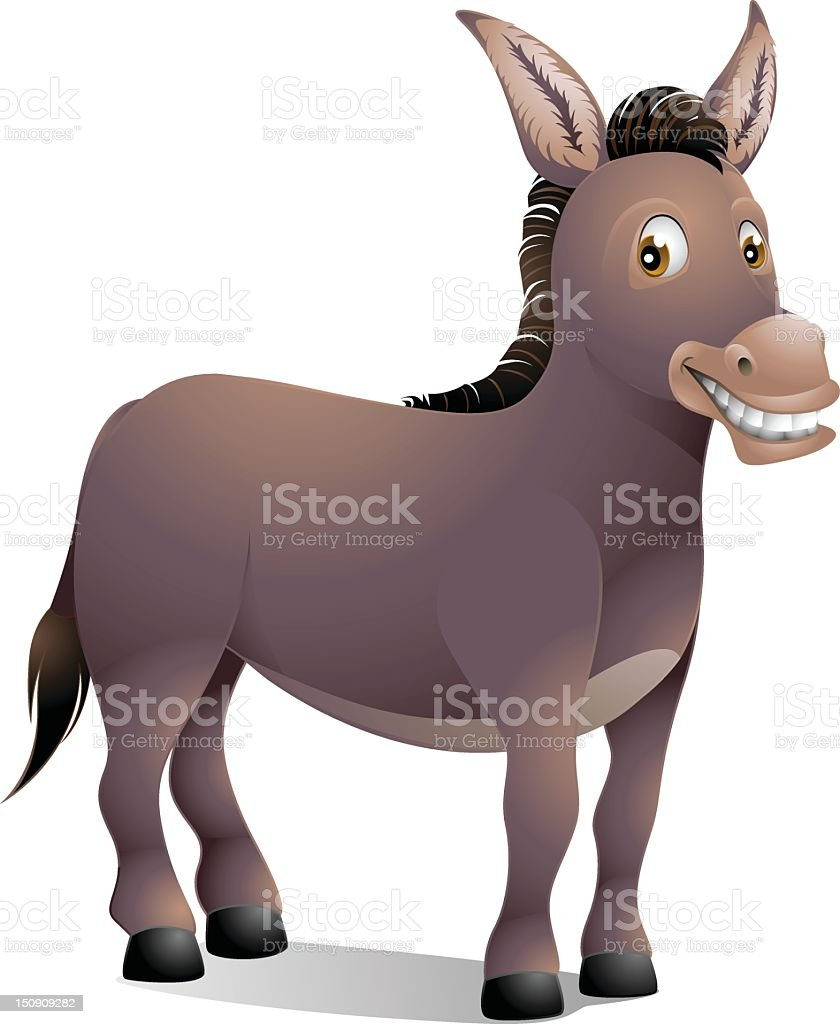 Little Brown Donkey royalty-free stock vector art
