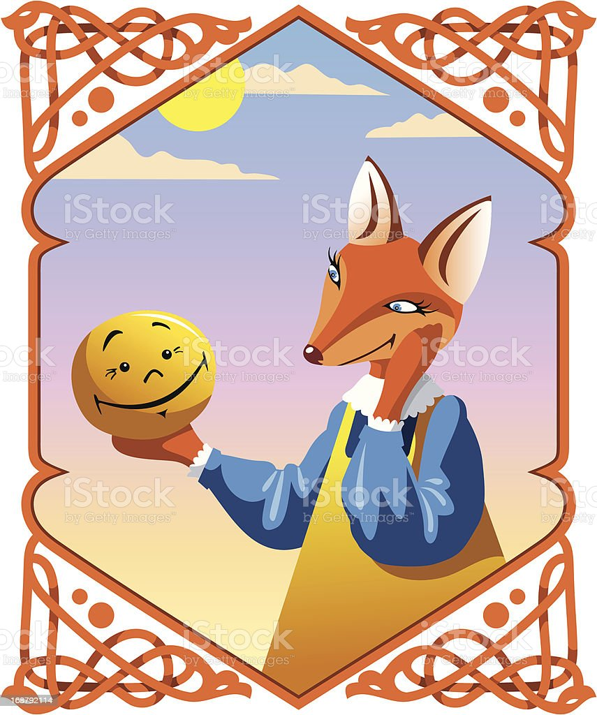 Little Bun and the Fox royalty-free stock vector art