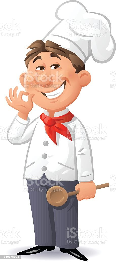 Little Chef vector art illustration