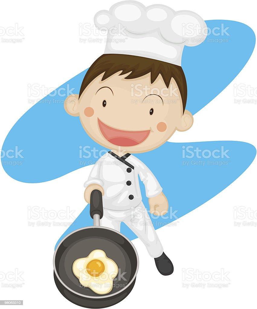 Little Chef royalty-free stock vector art