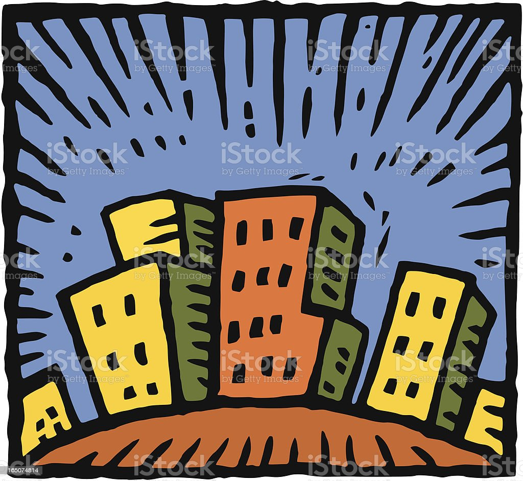 Little city royalty-free stock vector art