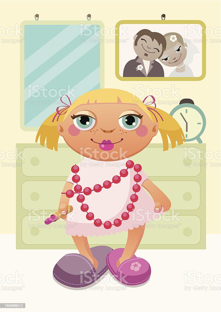 Little copy of mum. royalty-free stock vector art