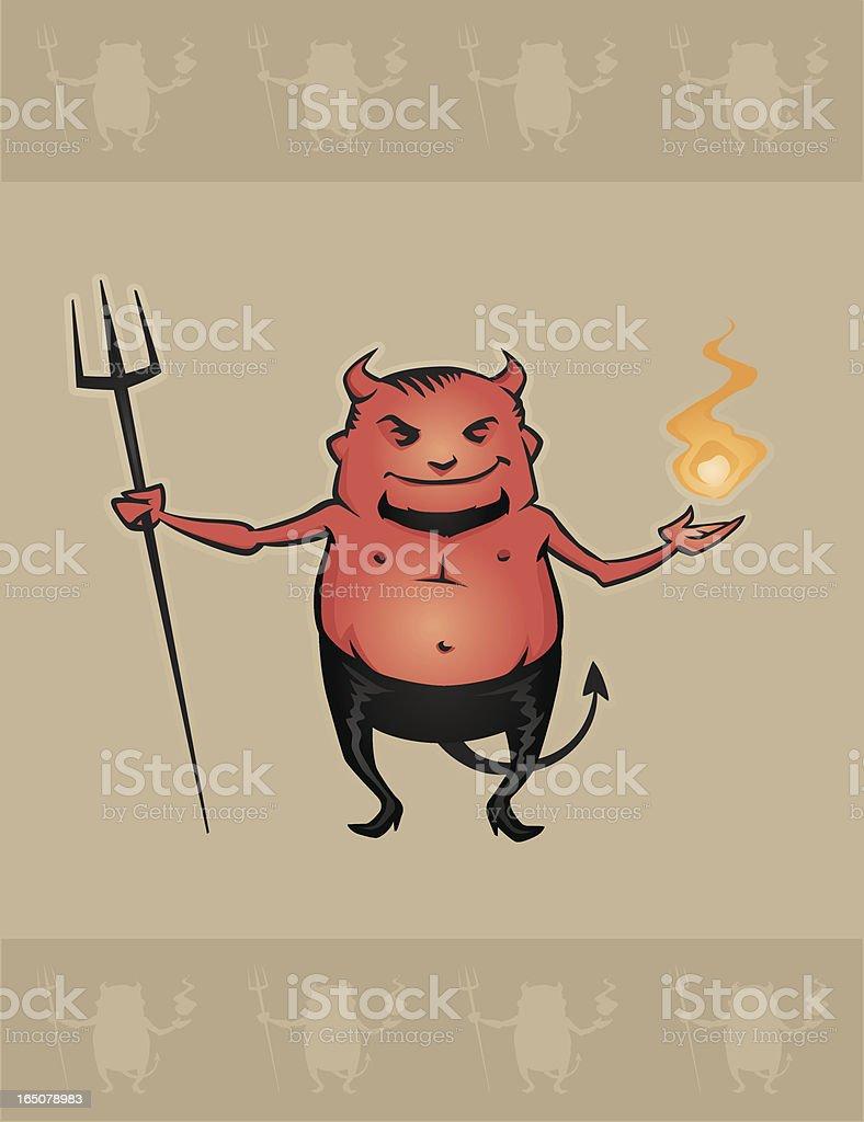 Little Devil vector art illustration