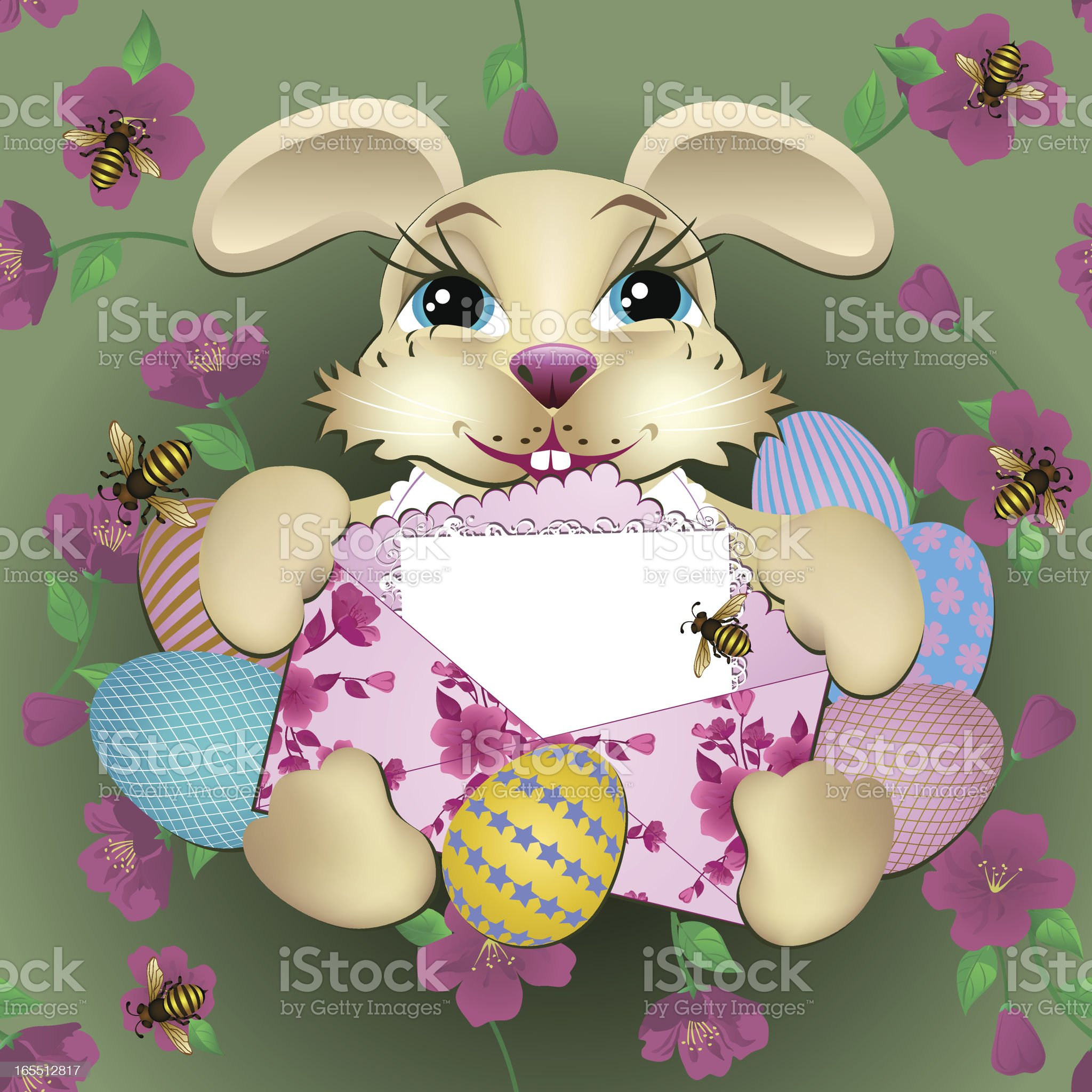 Little Easter Rabbit royalty-free stock vector art