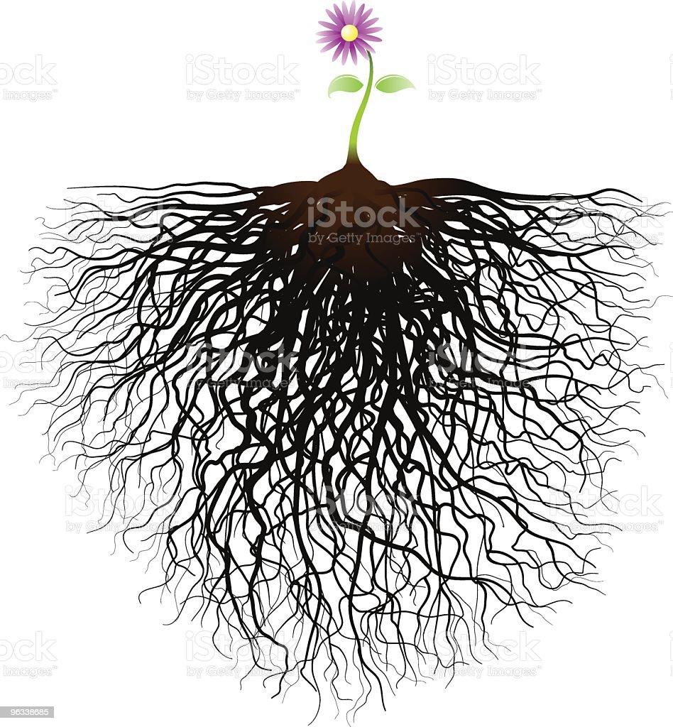 Little Flower vector art illustration