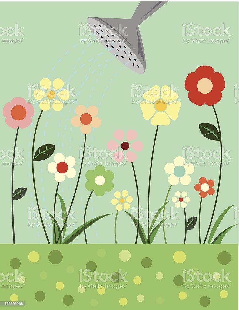 Little Flowers will Grow vector art illustration