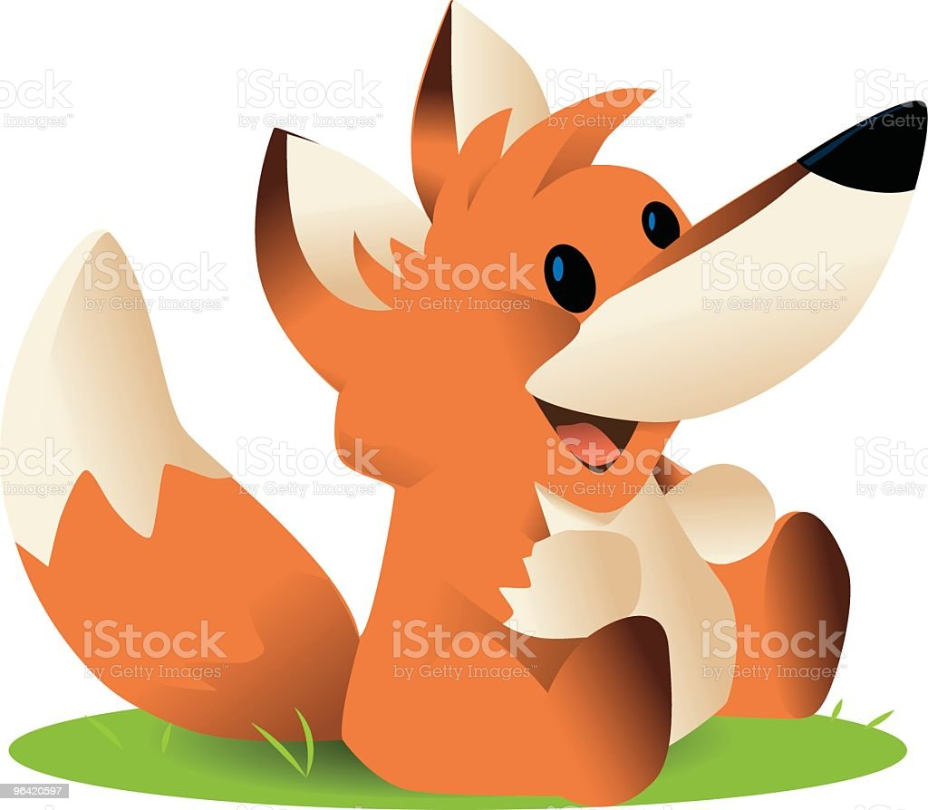 Little Fox royalty-free stock vector art