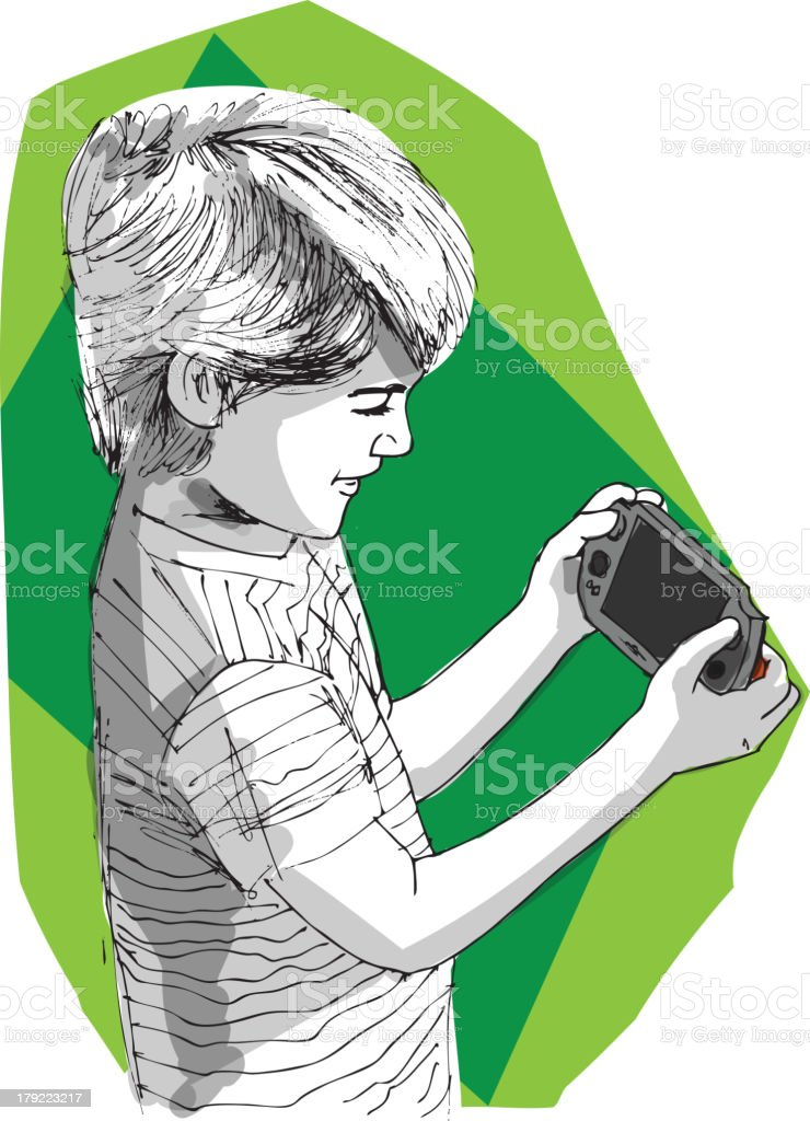 little gamer royalty-free stock vector art