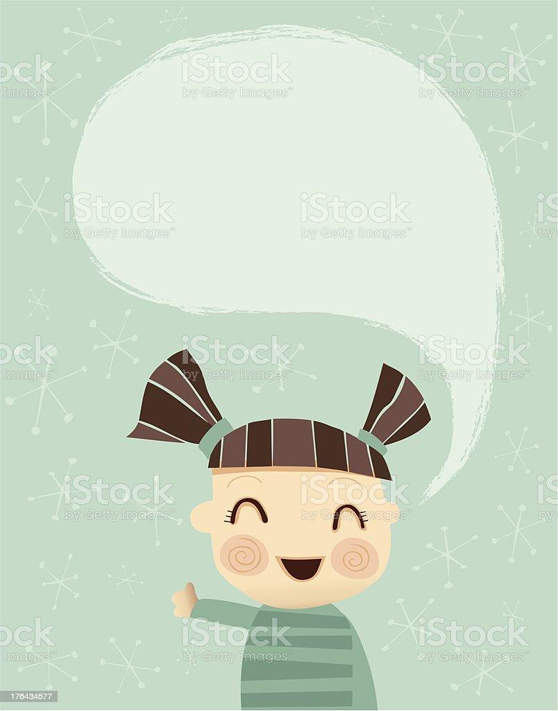 Little Girl saying Hi royalty-free stock vector art