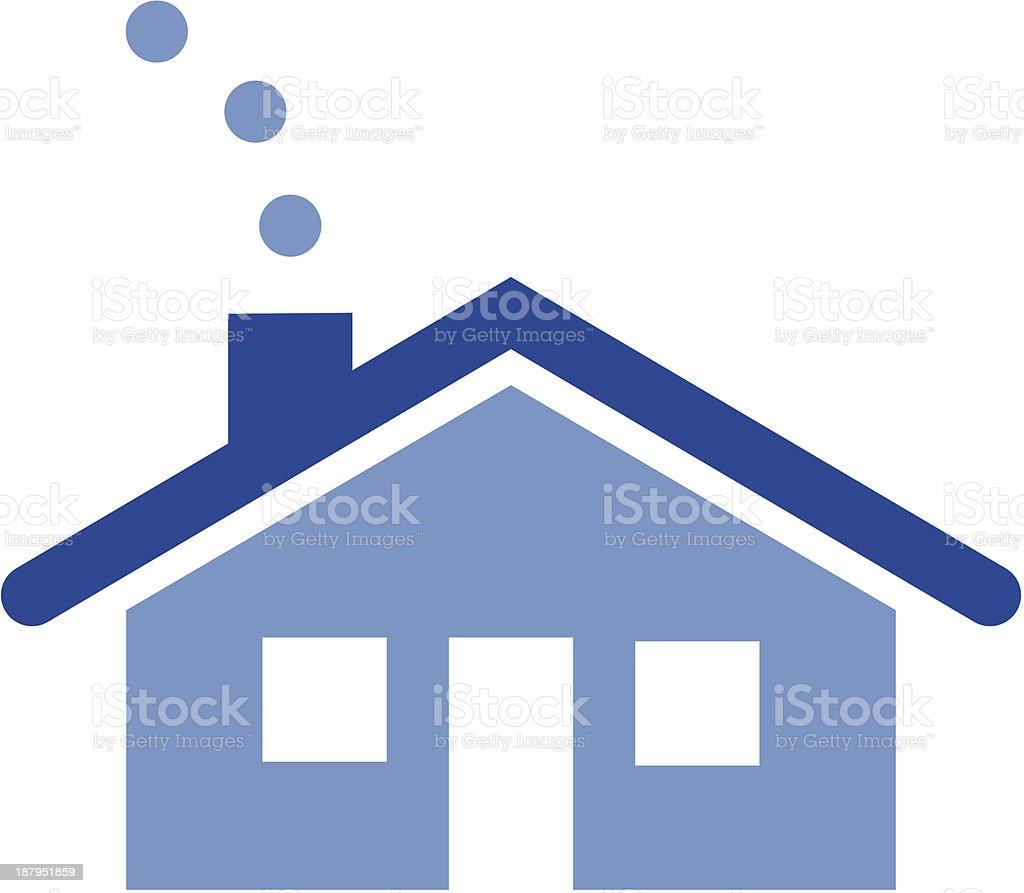 Little House vector art illustration