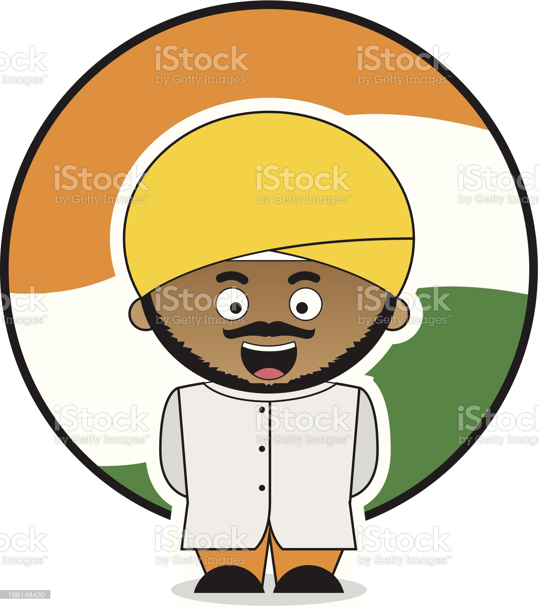 Little Indian Men royalty-free stock vector art