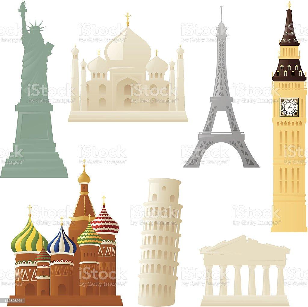 Little Landmarks royalty-free stock vector art