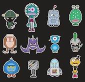 Little monsters pack vector