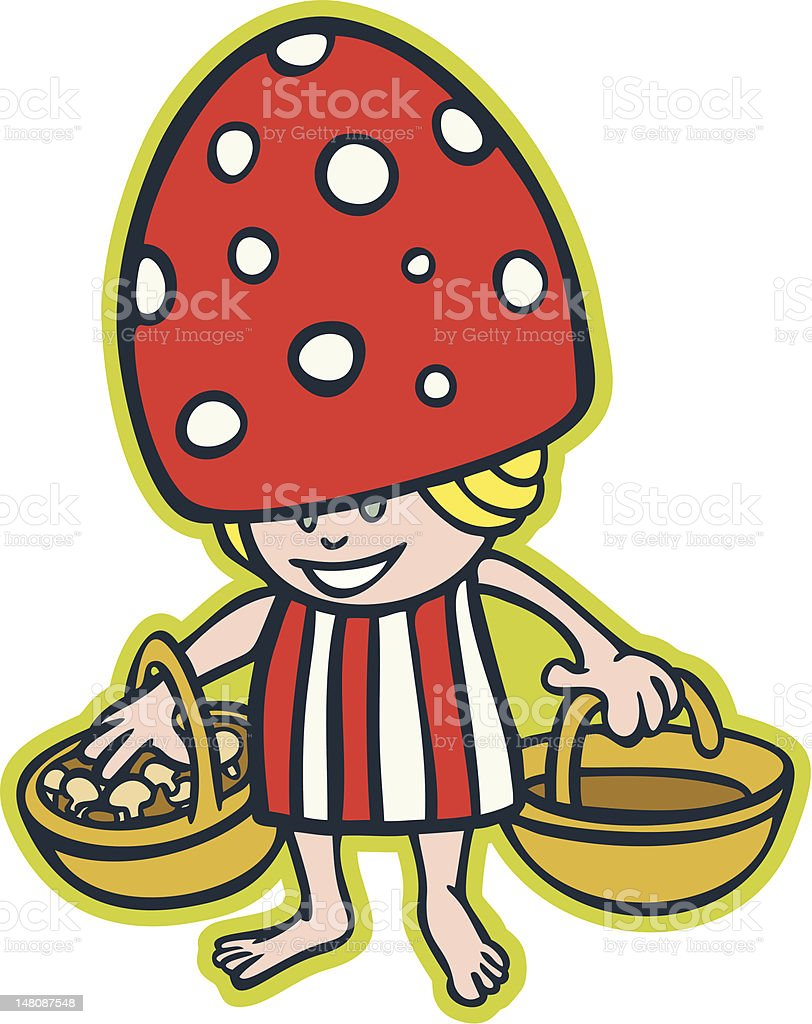 Little mushroom girl royalty-free stock vector art