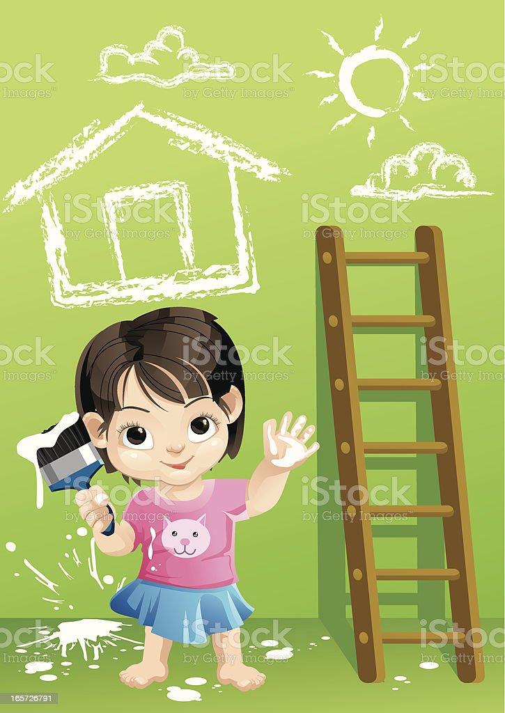 Little Paint Job royalty-free stock vector art