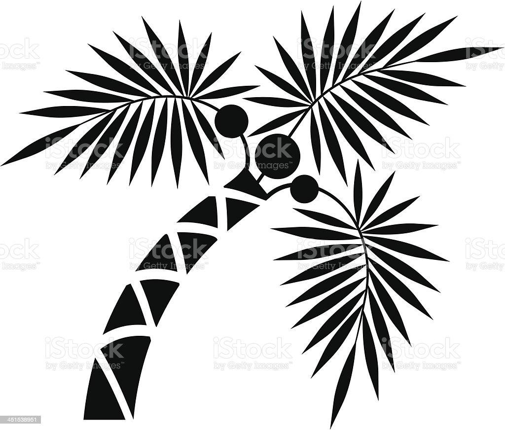 Little palm royalty-free stock vector art