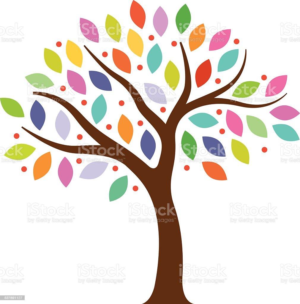 Little park tree illustration vector art illustration