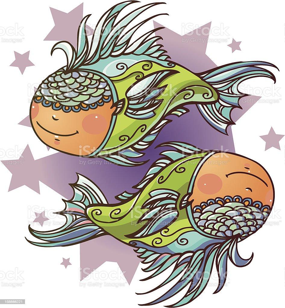 Little Pisces royalty-free stock vector art