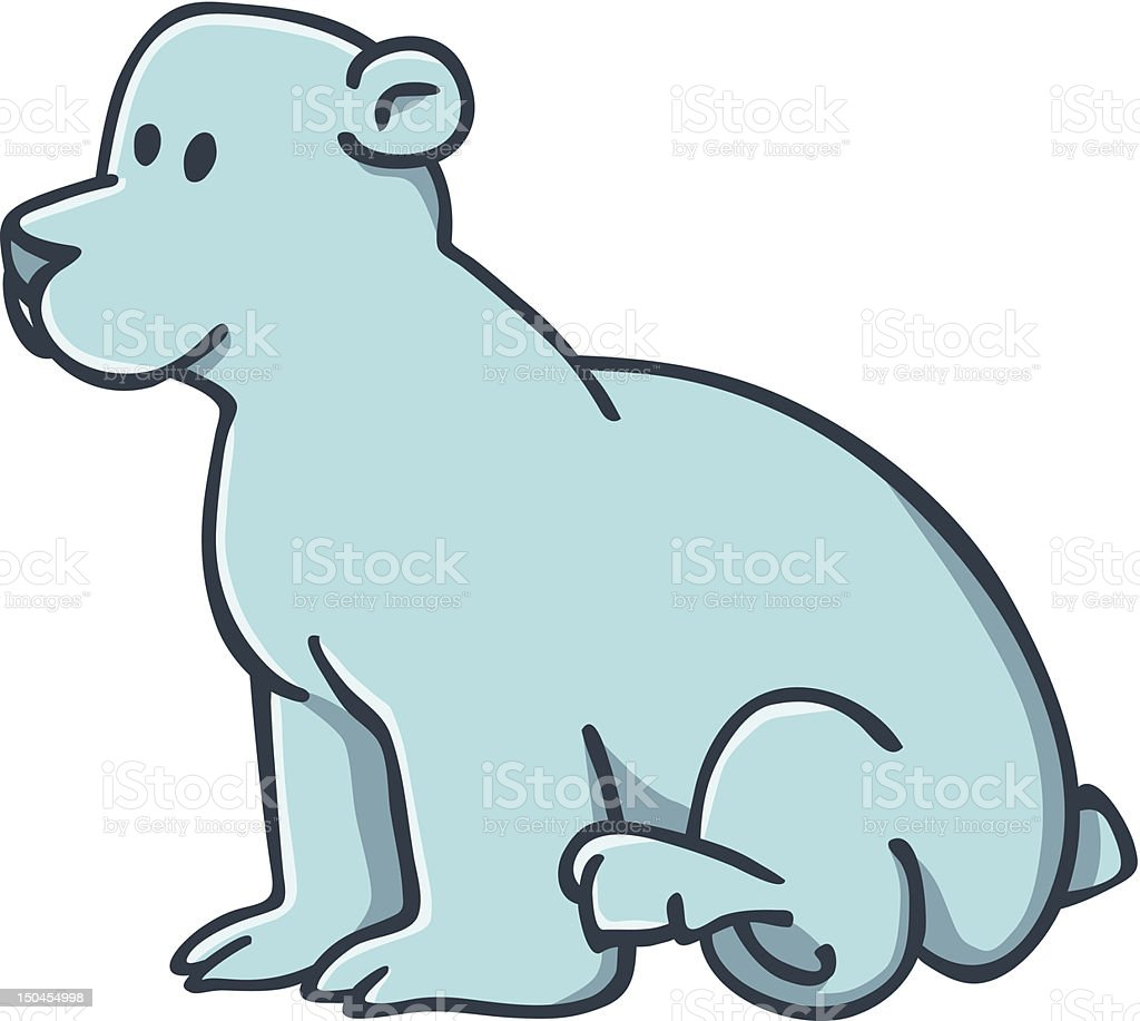 little polar bear royalty-free stock vector art