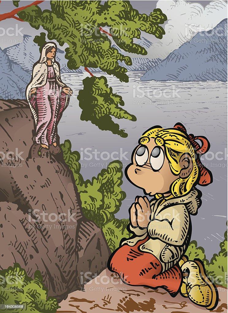 Little Prayer vector art illustration