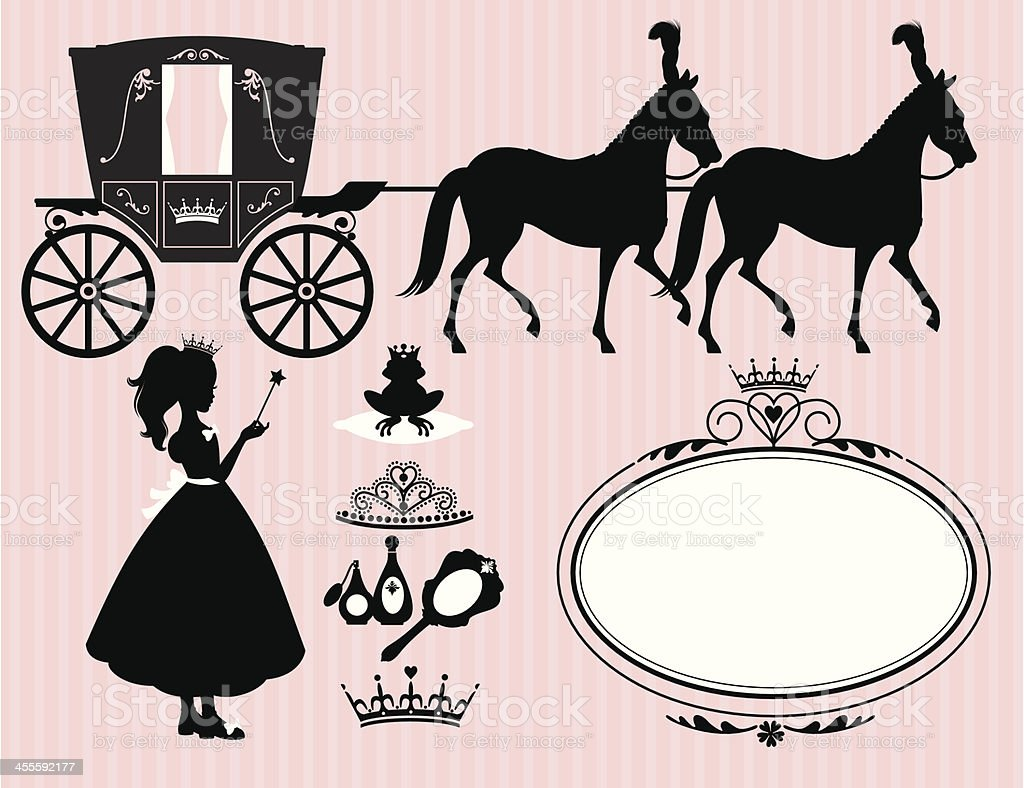 Little Princess Set vector art illustration