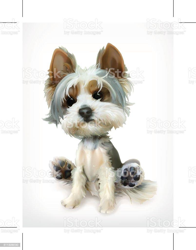 Little Puppy vector art illustration