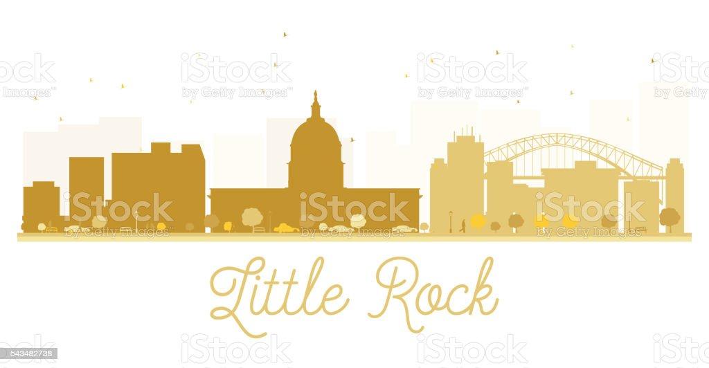 Little Rock City skyline golden silhouette. vector art illustration