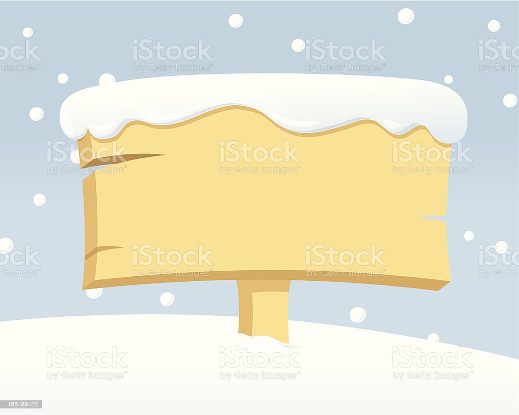 Little Snowy Message - incl. jpeg royalty-free stock vector art