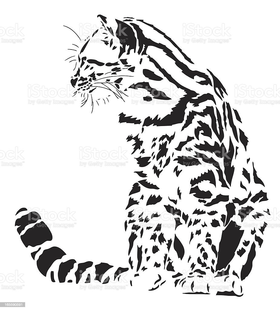 Little spotted cat illustration royalty-free stock vector art