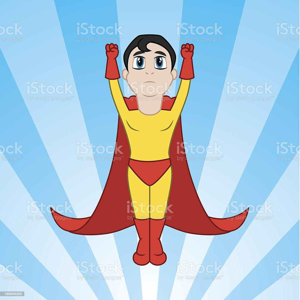 Little Superhero Flying royalty-free stock vector art