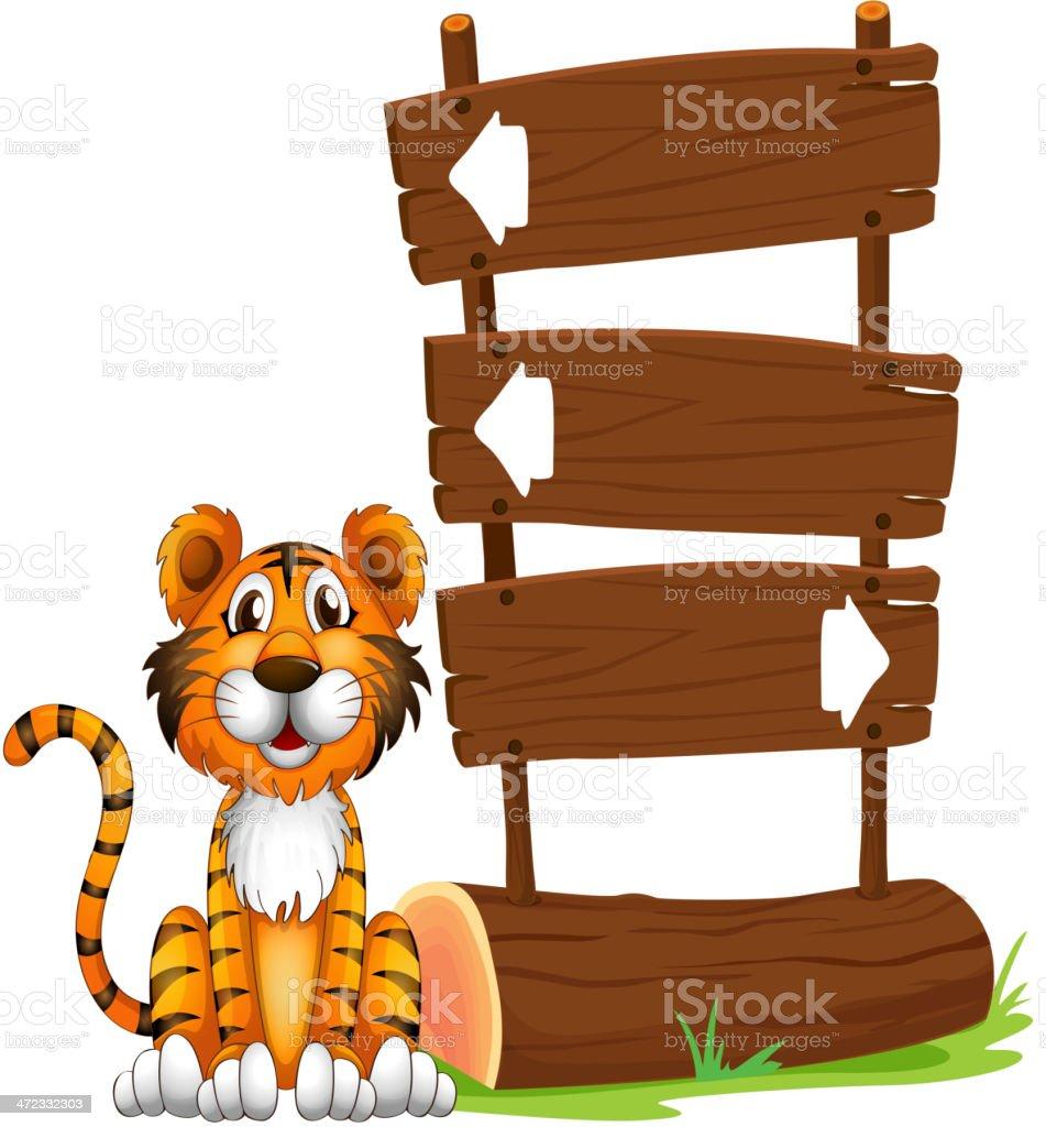 Little tiger royalty-free stock vector art