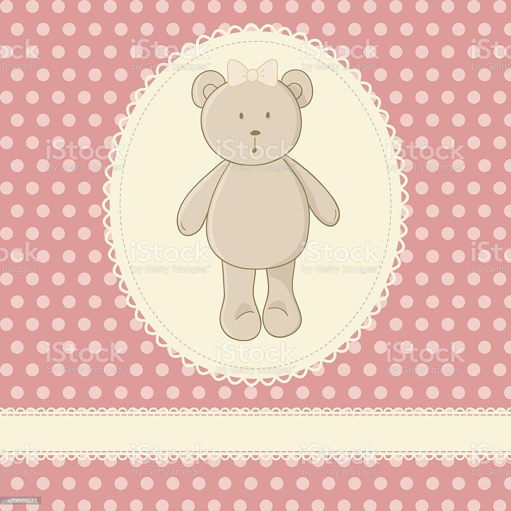 Little toy teddy bear royalty-free stock vector art