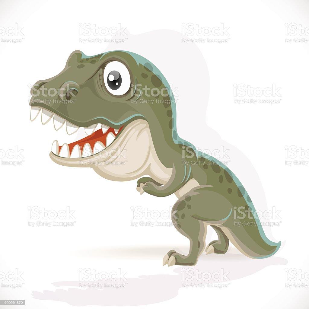 Little Tyrannosaurus isolated on white background vector art illustration