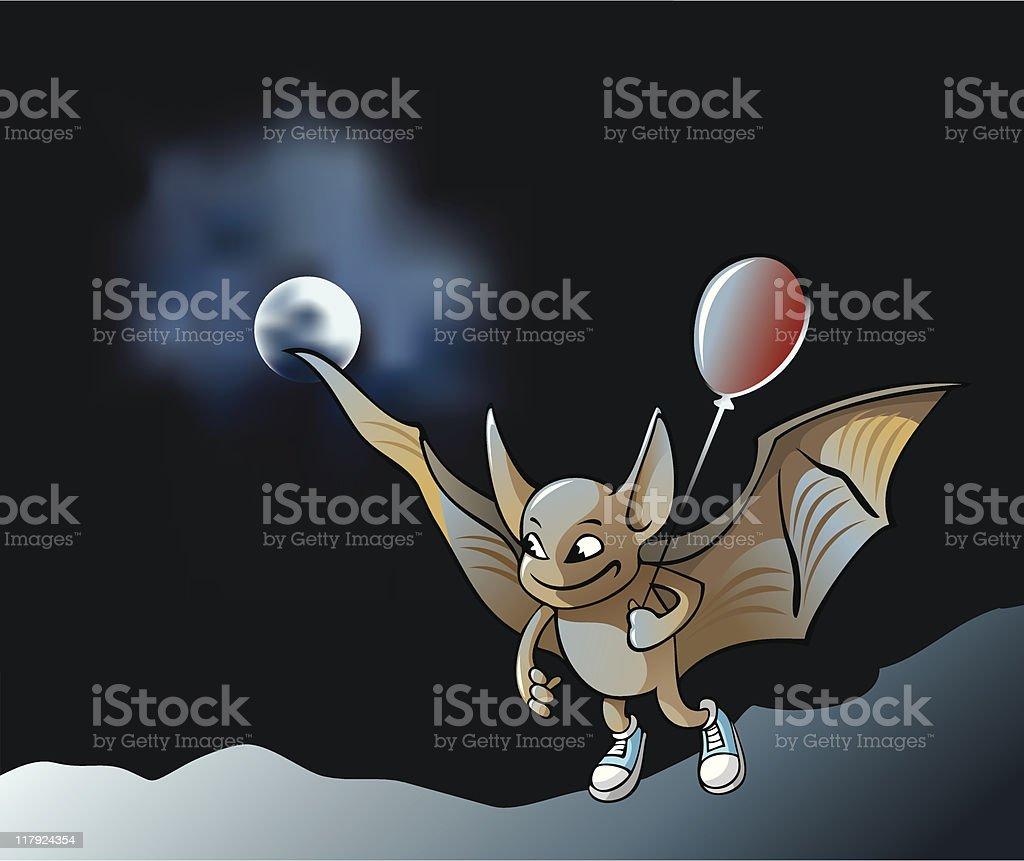 Little vampire bat royalty-free stock vector art