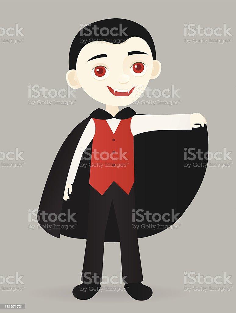 Little Vampire vector art illustration