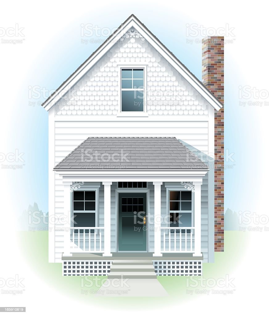 Little White House vector art illustration