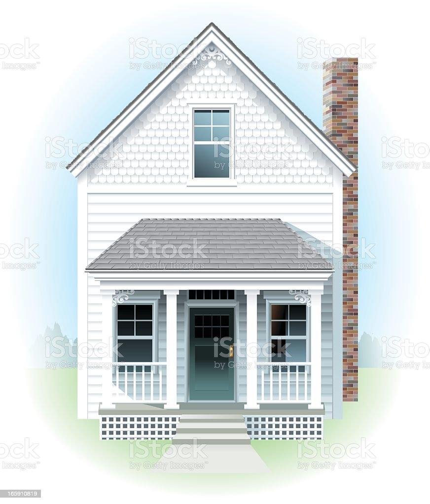 Little White House vector art illustration