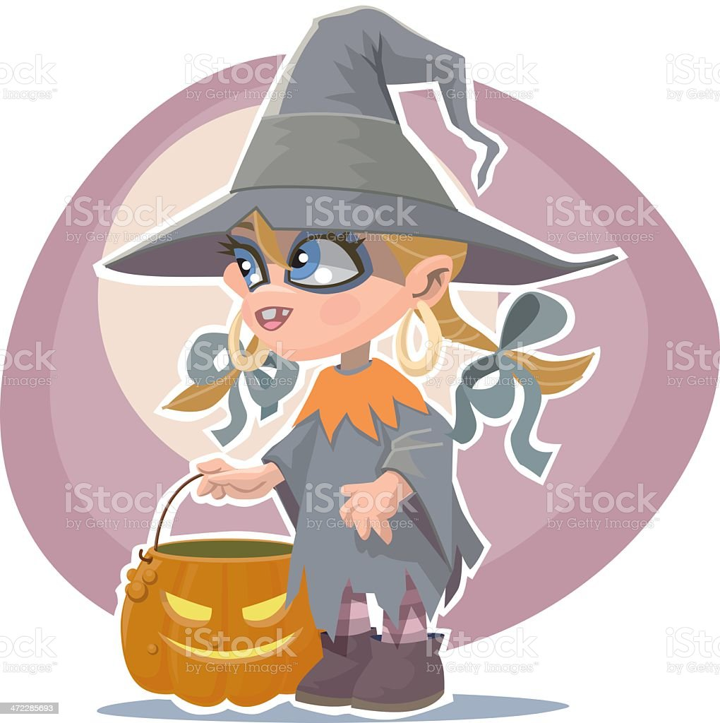 little witch royalty-free stock vector art